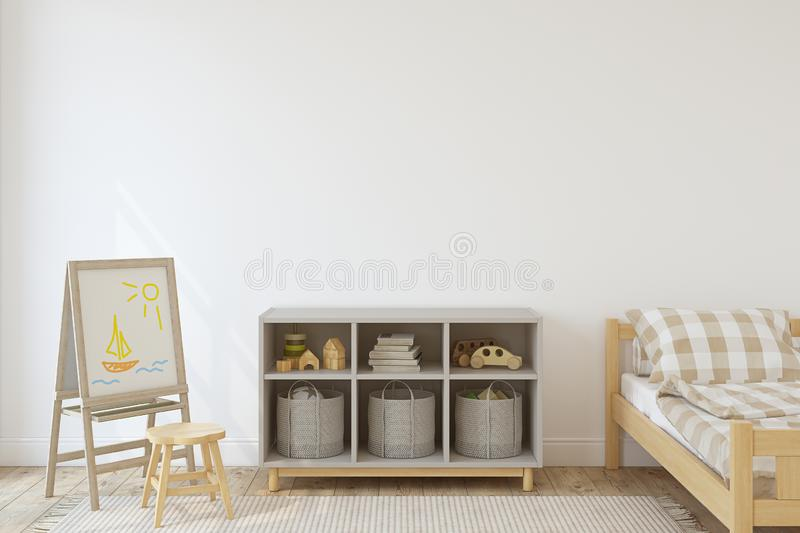 Interior of nursery. 3d render vector illustration