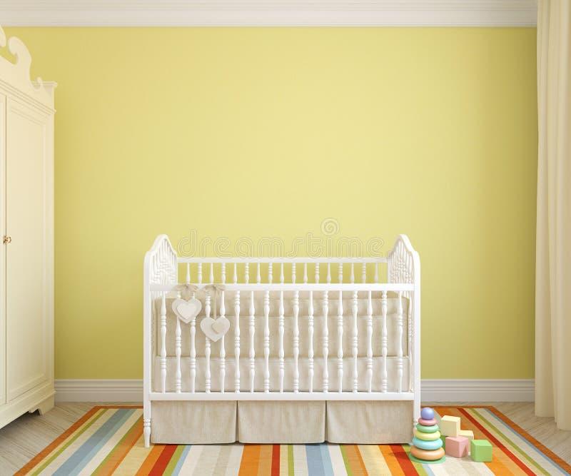 Interior of nursery. 3d rendering. stock illustration