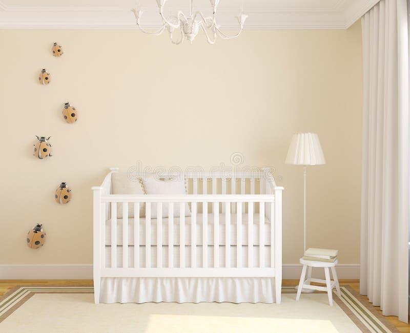 Interior of nursery. royalty free illustration