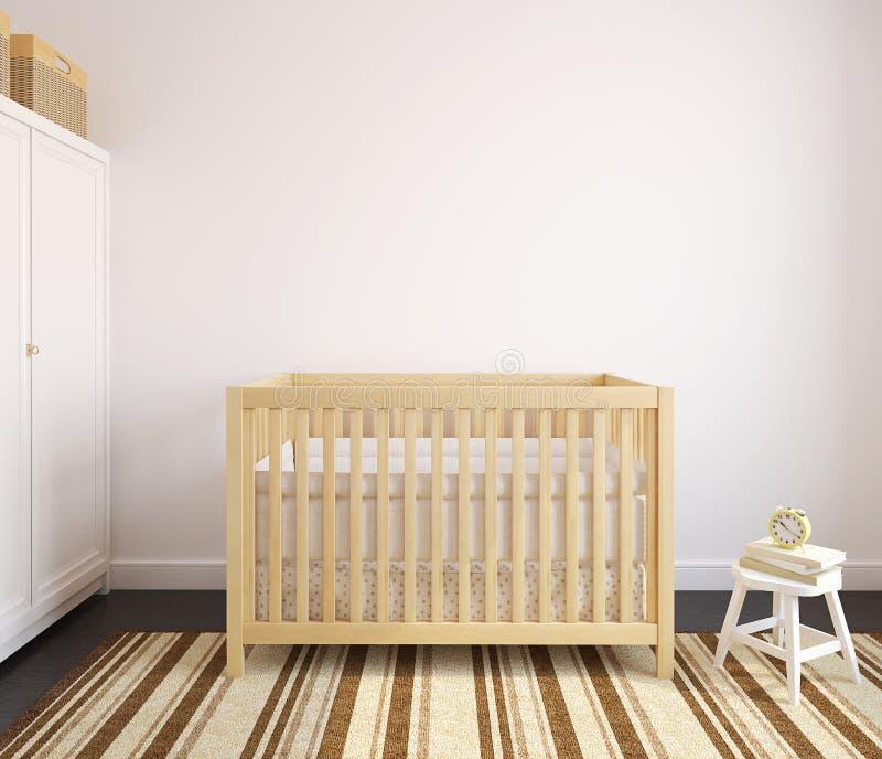 Interior of nursery. vector illustration
