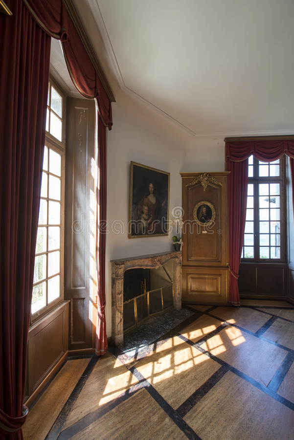 Interior of Oberhofen Castle, Switzerland royalty free stock photography