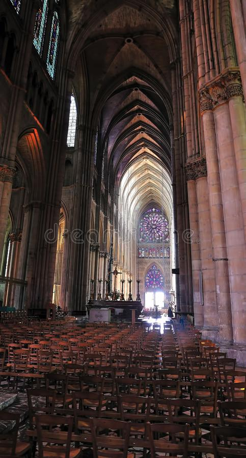 Free Interior Of A Cathedral In Reims. Stock Photo - 16531680