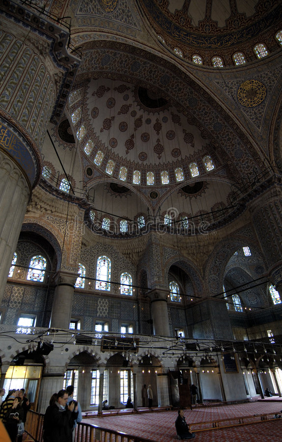 Free Interior Of The Blue Mosque Royalty Free Stock Photography - 3814147