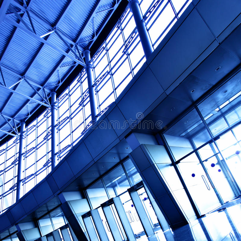Interior of office building stock image