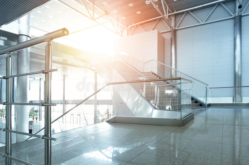 Interior of office building. Interior of modern office building stock photography