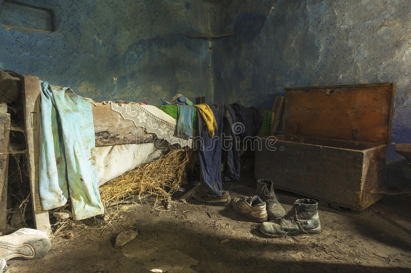 Interior of old abandoned house royalty free stock photography