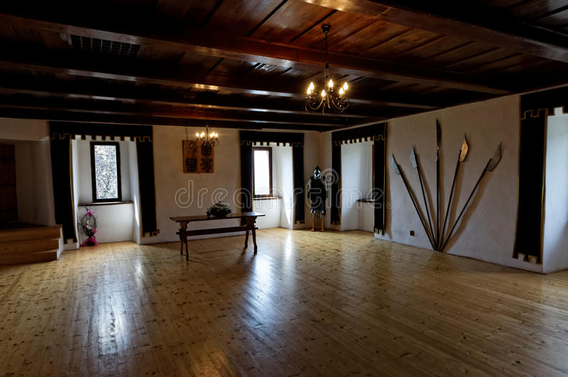 The interior of the old castle stock photography