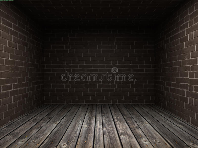 Interior of an old dark room with royalty free stock images