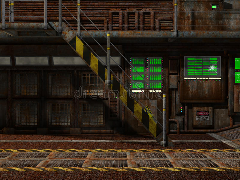 Interior of an old dock. Interior of an old loading dock vector illustration