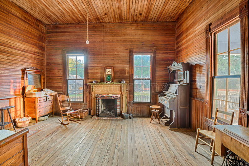 Download Interior Of An Old Farmhouse Alabama Editorial Image
