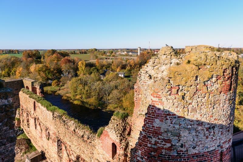 Interior of old medieval castle ruins in Bauska town, Latvia. ÑŽ stock photos