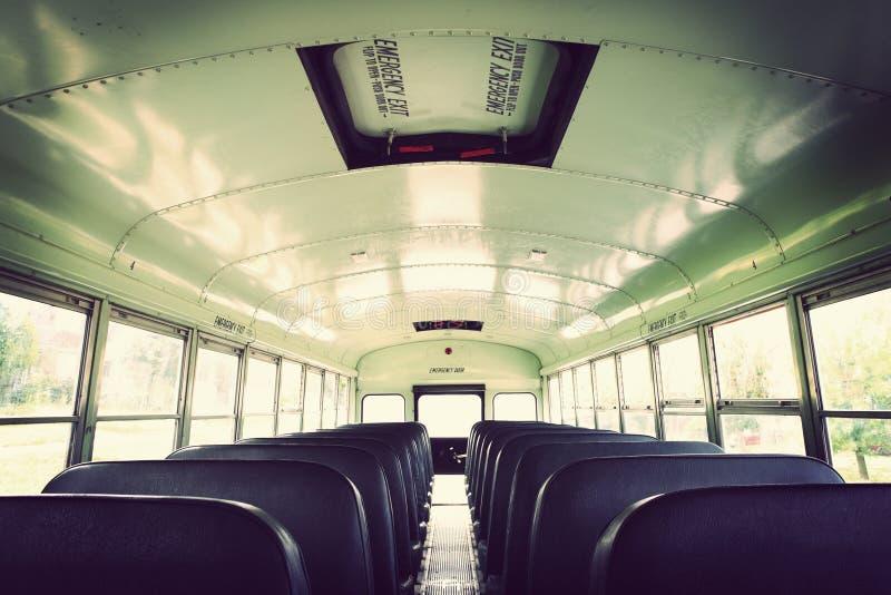Download Interior Of An Old School Bus Stock Image   Image Of Door, Inside: