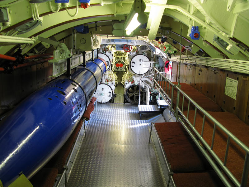 Download Interior of old submarine stock image. Image of torpedo - 17609569