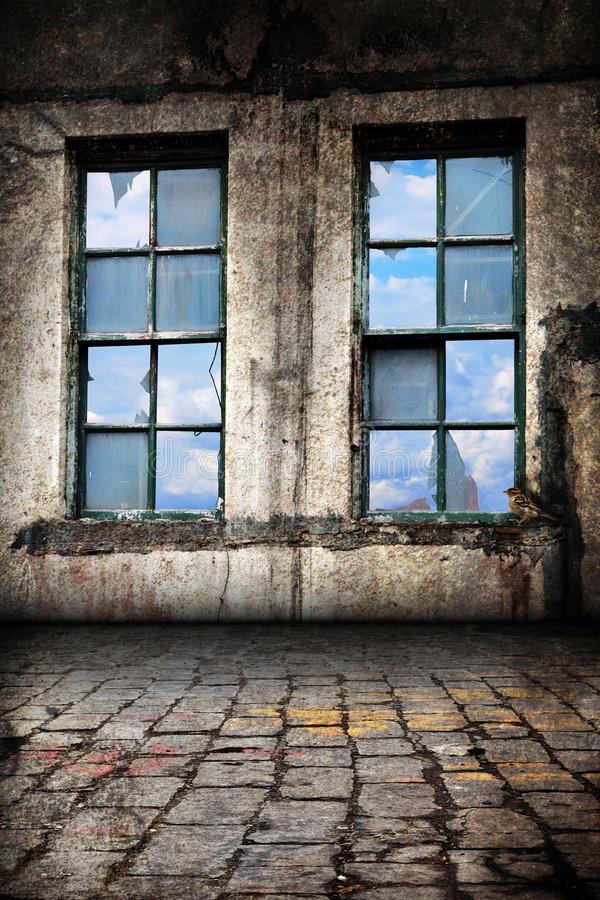 Download Interior Of Old Warehouse Background Stock Image - Image: 19584953