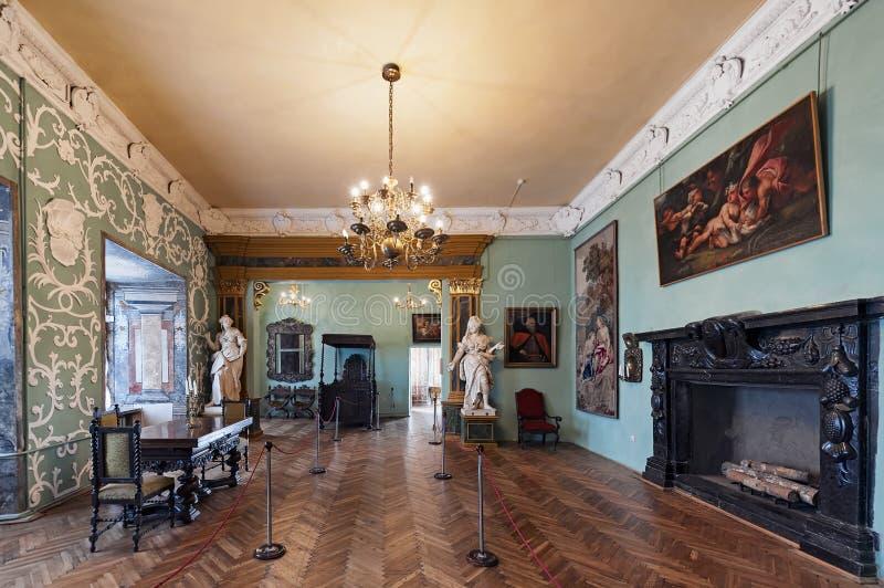 Interior of the Olesko Castle, in Lviv Oblast in Ukraine royalty free stock image