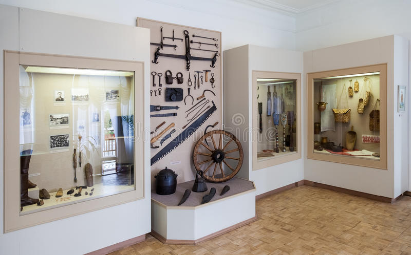 The interior of one of the halls of the Museum of the county tow royalty free stock photography