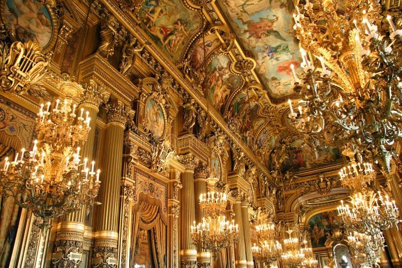 Interior of Opera Garnier in Paris royalty free stock photography