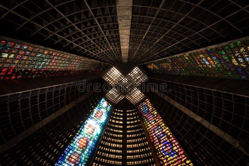Interior original da catedral Metropolitana imagens de stock royalty free