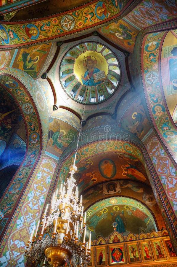 Interior Of The Orthodox Church Royalty Free Stock Image