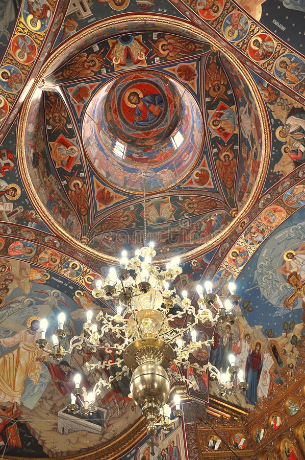 Interior of an orthodox church royalty free stock image