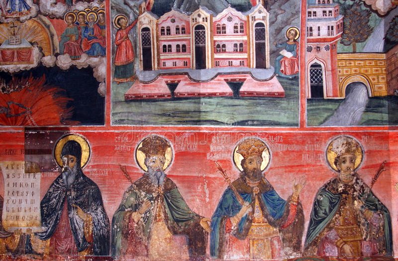 Download Interior Orthodox Wall Painting Stock Photo - Image: 17204730