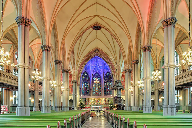 Download Interior Of Oscar Fredrik Church In Gothenburg Sweden Editorial Photography