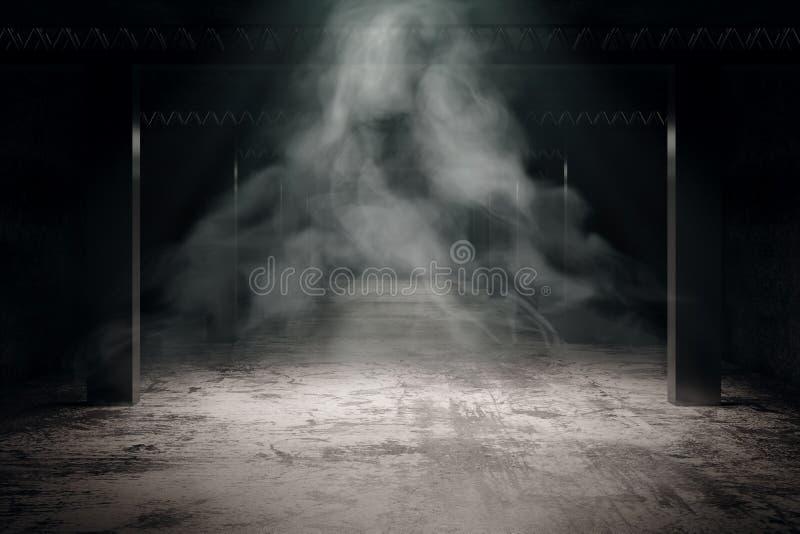 Interior oscuro sucio ilustración del vector