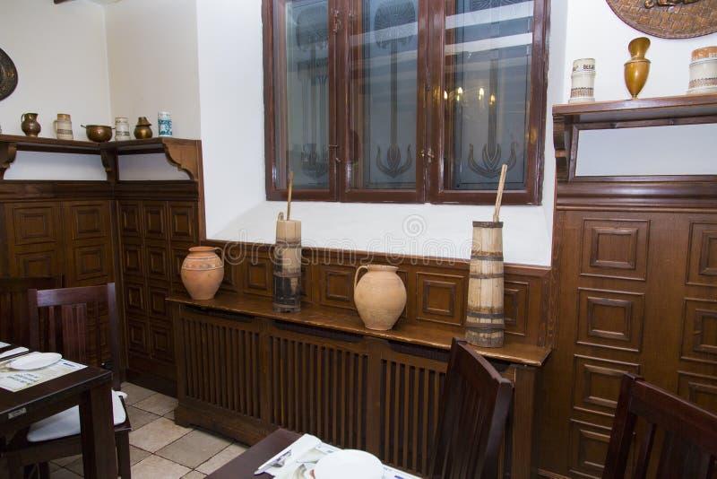 Interior of Ostankino restaurant from Ruse royalty free stock image