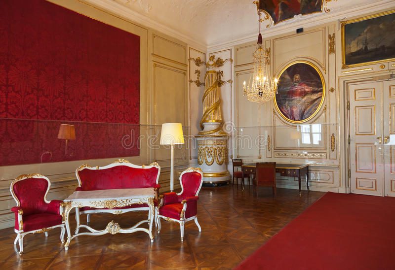 Interior of palace in Salzburg Austria stock image