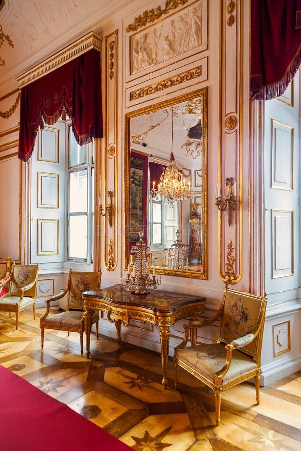 Interior of palace in Salzburg Austria stock images