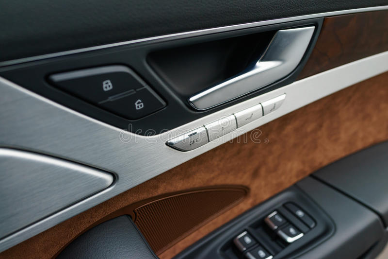 Interior Panel Of Car Door Stock Photos