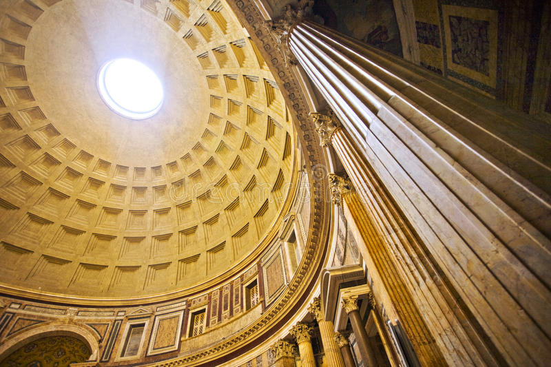 Interior of the Pantheon, Rome royalty free stock images