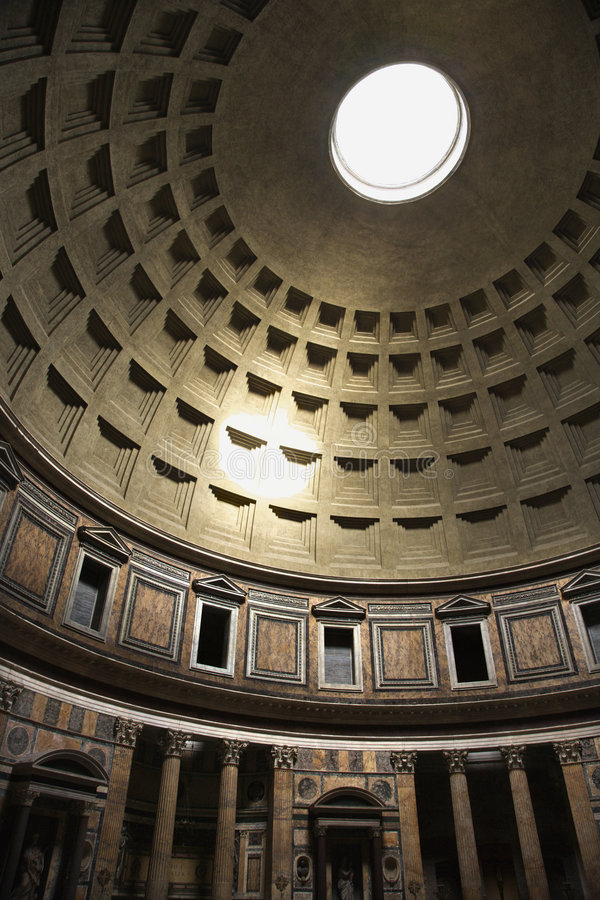 Interior of Pantheon, Rome, Italy. royalty free stock photos