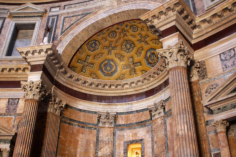 Pantheon in Rome, Italy. Interior of the Pantheon in Rome, Italy royalty free stock image