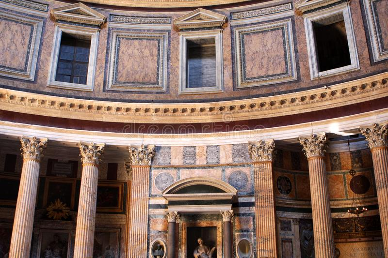 Pantheon in Rome, Italy. Interior of the Pantheon in Rome, Italy stock photos