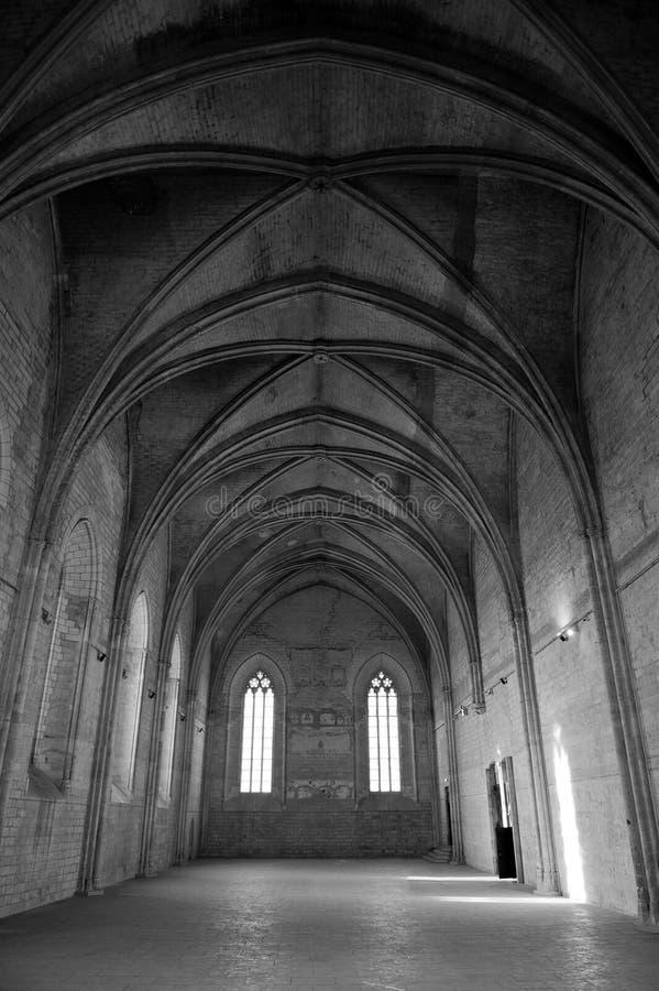 Interior of Papal Palace royalty free stock photography