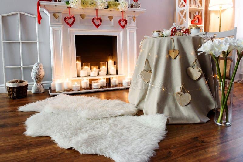 Interior para a celebração do dia de Valentim do St fotos de stock royalty free