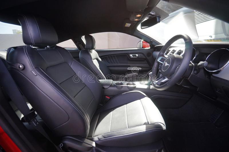 2014 Ford Mustang Interior Front Side View stock photo