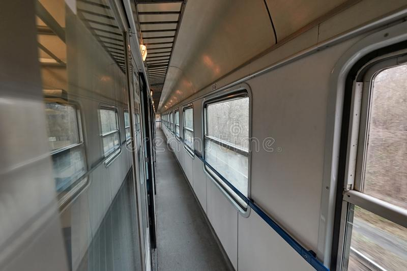 Old Passenger Train interior royalty free stock photography