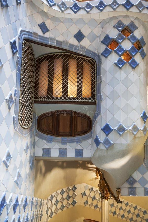 Interior Patio Of Casa Batllo In Barcelona Catalonia