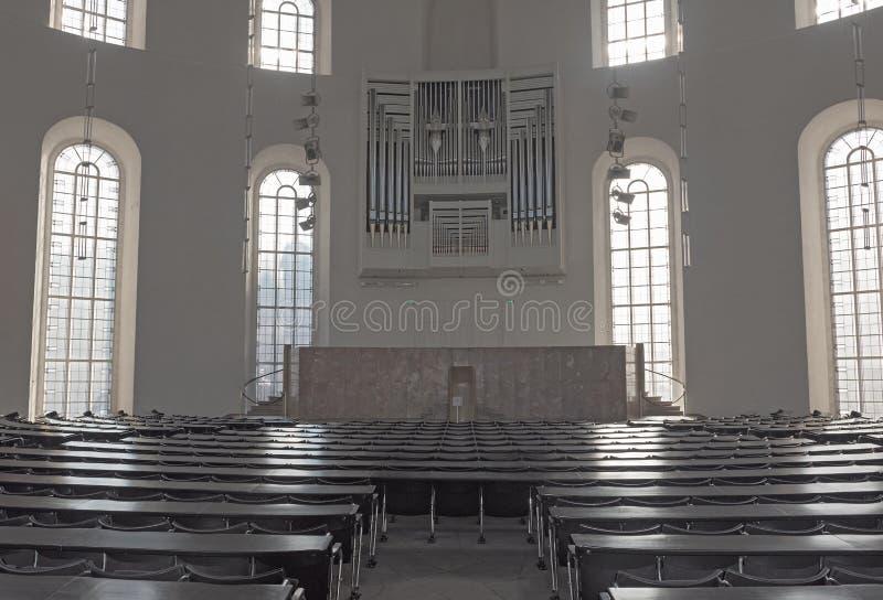 Interior of the Paulskirche Plenary Hall, upper floor of the Frankfurt Paulskirche royalty free stock photos