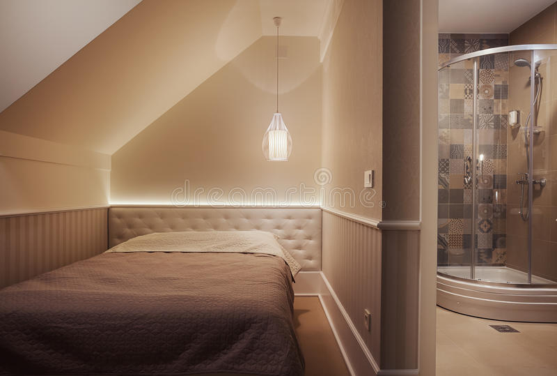 Interior pequeno da sala de hotel imagem de stock royalty free