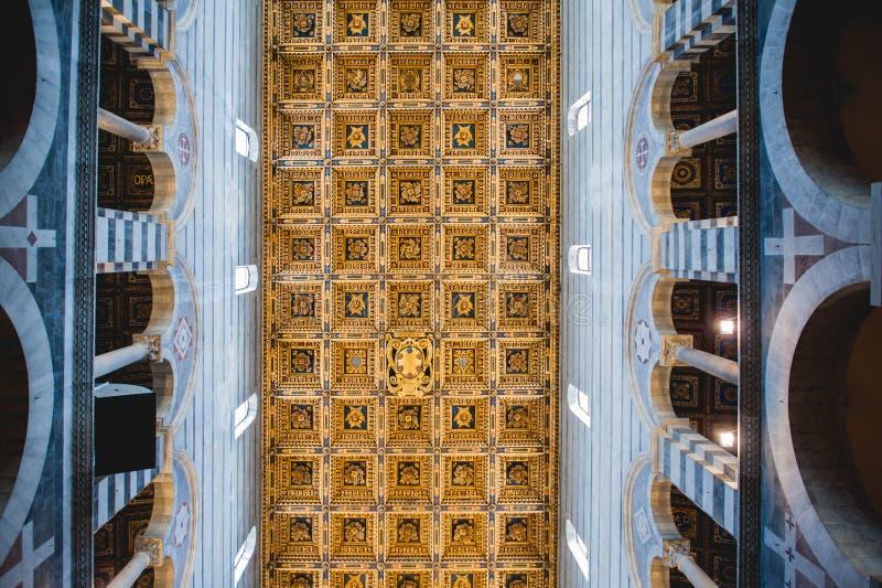 Interior of Pisa Duomo royalty free stock photography