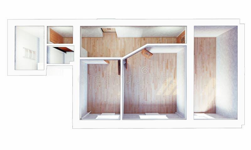 Download Interior plano moderno stock de ilustración. Ilustración de estado - 42437292