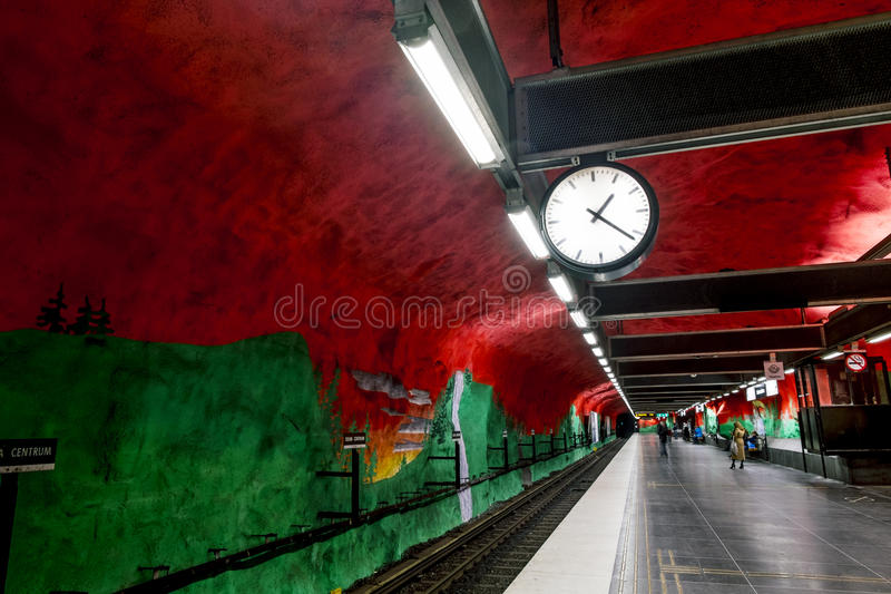 The interior and the platform of station royalty free stock image