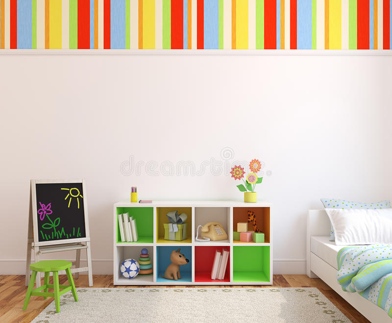 Interior of playroom. royalty free illustration