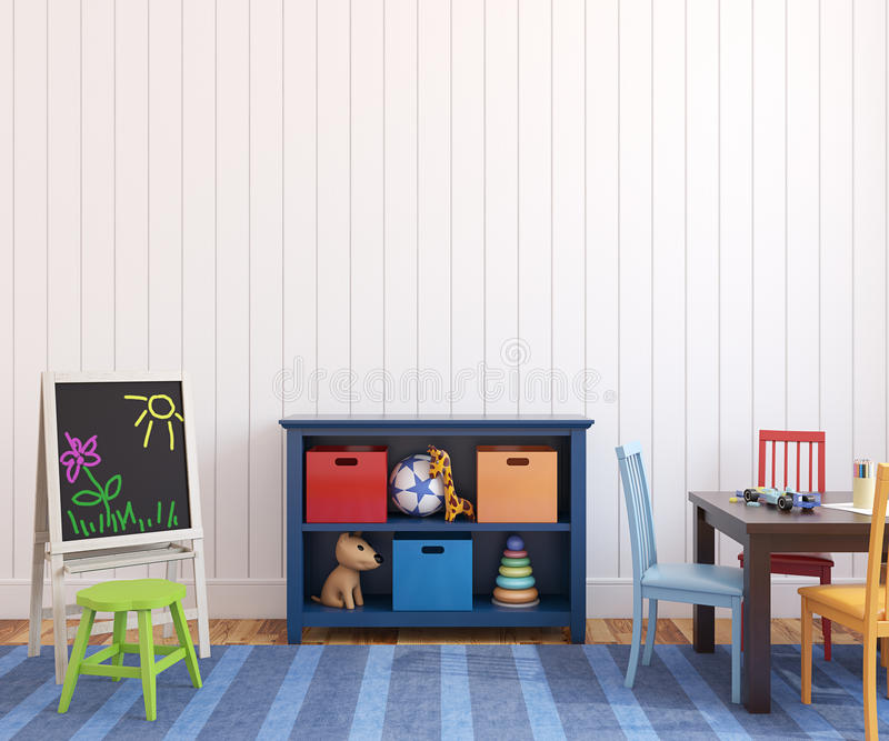 Download Interior of playroom. stock illustration. Image of indoor - 26701133