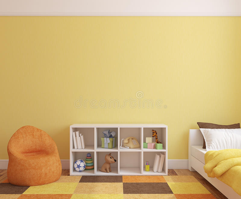 Interior of playroom. Colorful playroom interior. 3d render