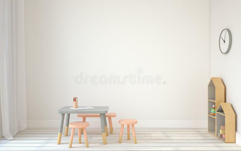 Interior of playroom. 3d render. stock illustration