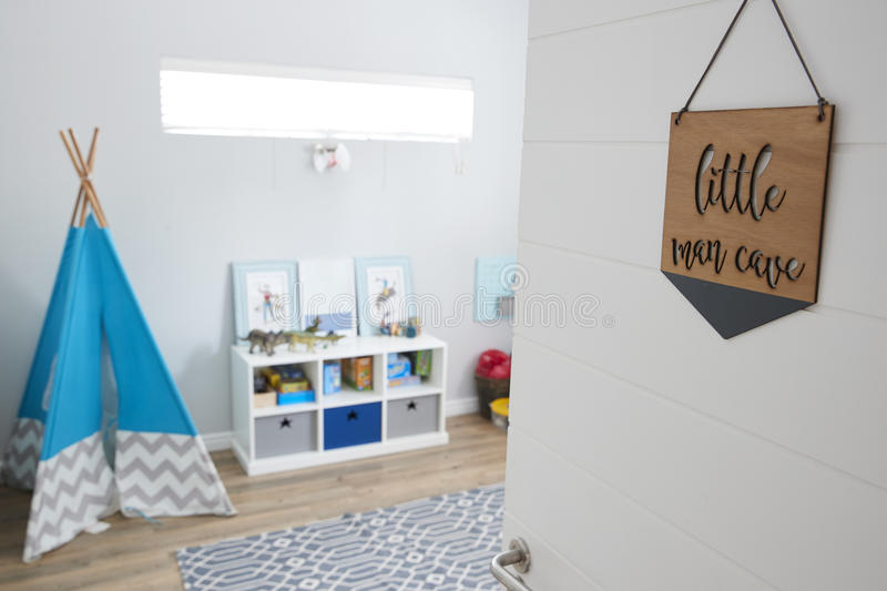 Interior Of Playroom In Stylish Contemporary Home stock image